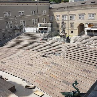 Salzburger Festspiele Jedermann Tribüne