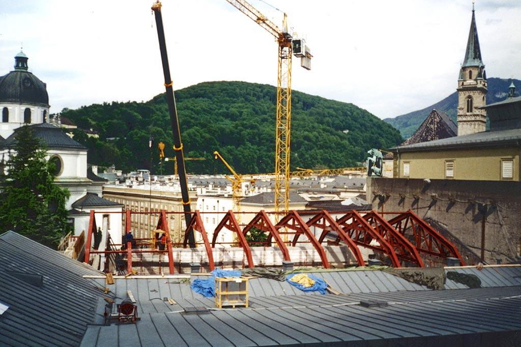 Salzburger Festspiele – Dachkonstruktion für das HAUS FÜR MOZART (2005)